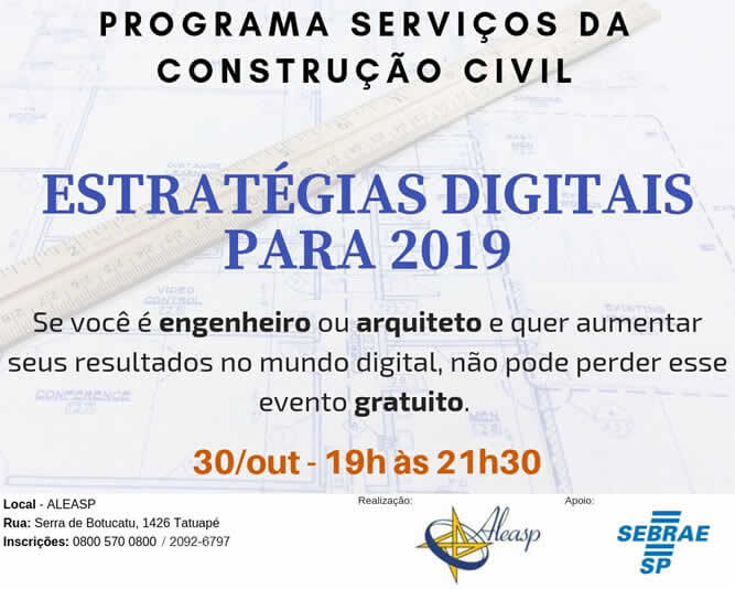 Programa Serviços da Construção Civil - Estrategias Digitais para 2019